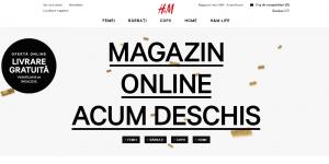 H&M a deschis magazinul online