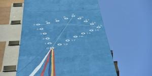 A treia pictură murală pe un bloc din sectorul 6