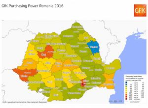 gfk puterea de cumparare in romania 2016