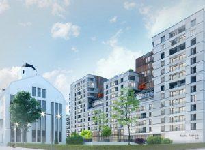 Fosta Fabrica Orzarie si cladirea noua cu apartamente