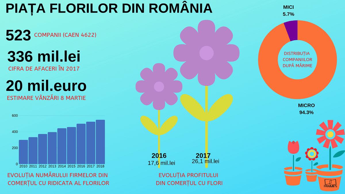 numarul de firme din comertul cu flori
