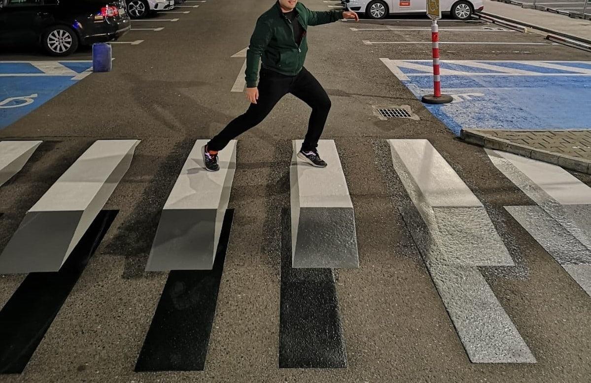 Treceri pietoni 3D Bucuresti Mall