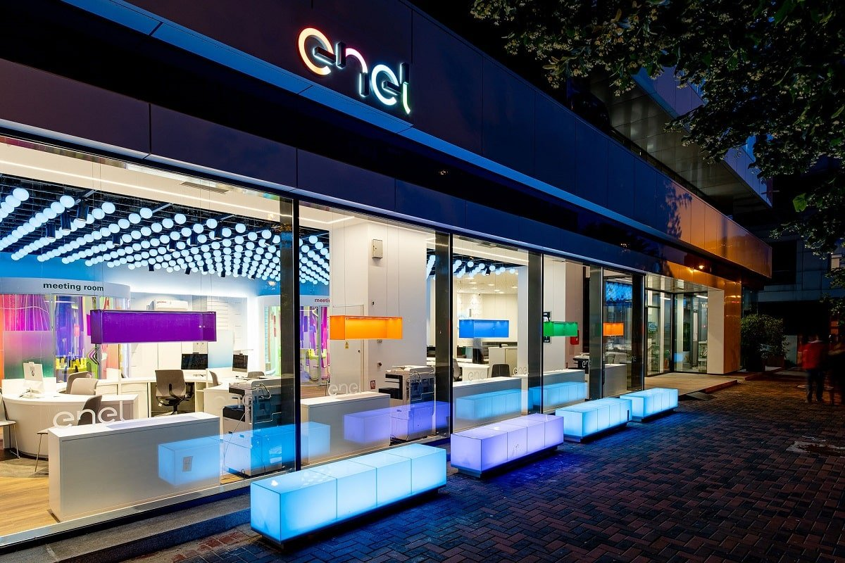 Enel concept store in Bucharest