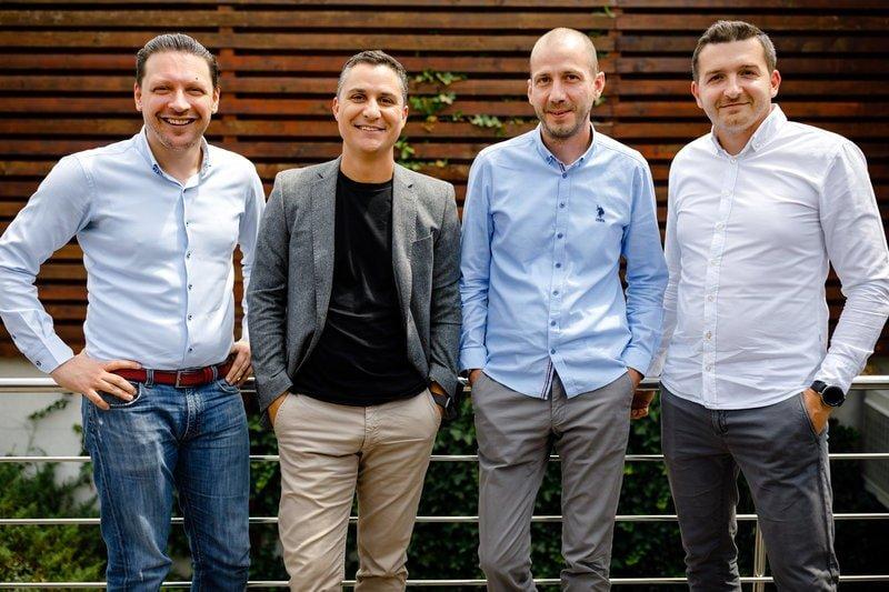 Fondatorii InnoShip (Andrei Paul, Daniel Nicolae, Robert Tanase, Dan Ungureanu)