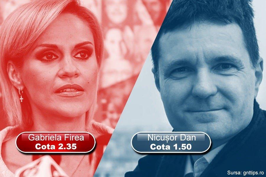 Gabriela Firea vs Nicusor Dan la vasele de pariuri
