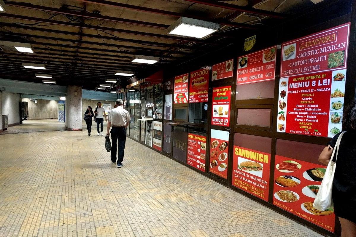 Spatii comerciale statia metrou Unirii