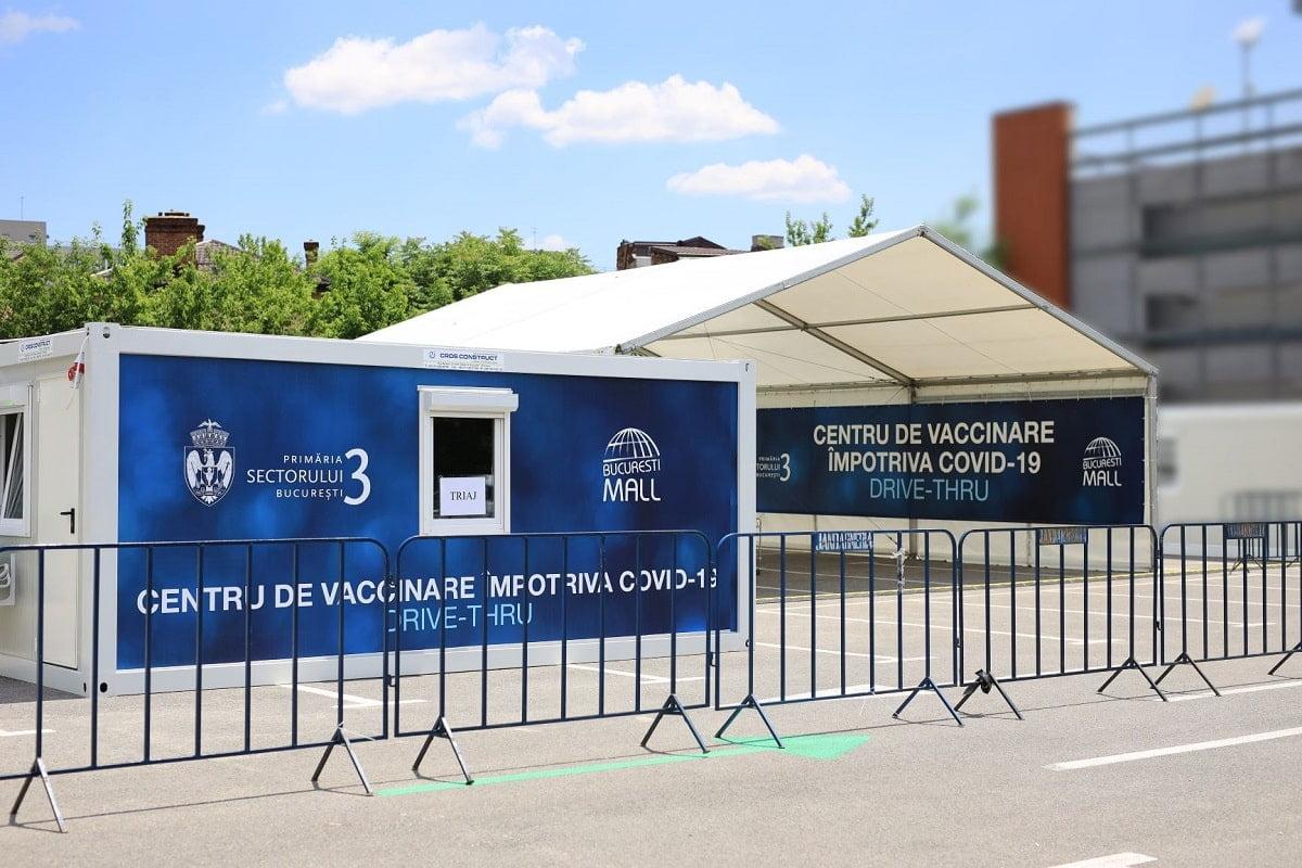 Centru de vaccinare drive-thru Bucuresti Mall